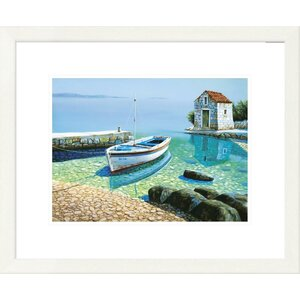 'Coastal Morning Reflections' by Frane Mlinar Framed Graphic Art by Global Gallery