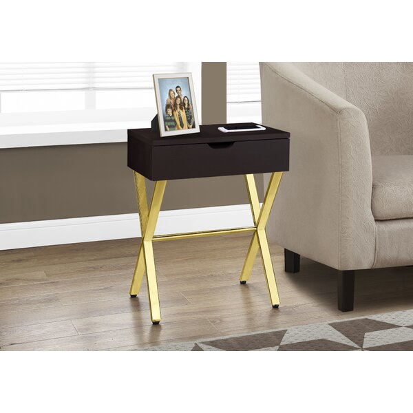 Discount Whited End Table With Storage