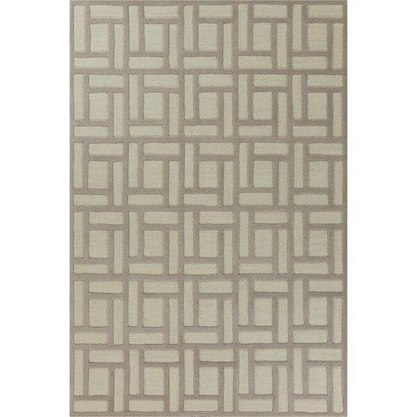 Soho Brick Hand-Tufted Wool Tan/Ivory Area Rug by Libby Langdon