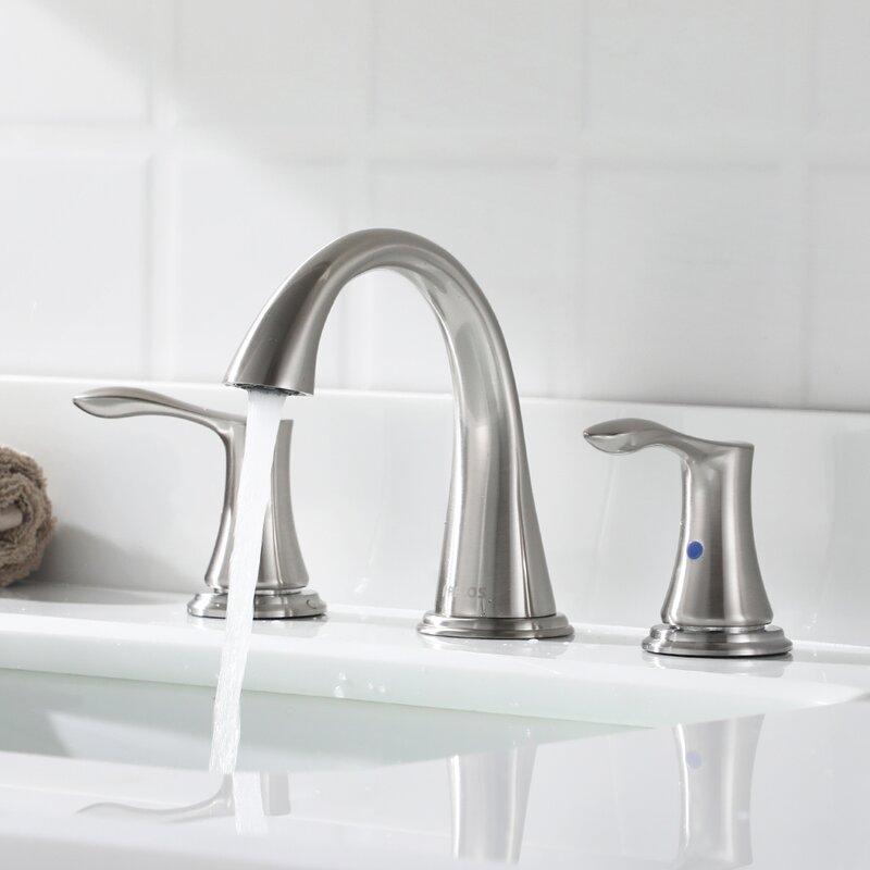 Parlos Home Widespread Bathroom Faucet With Drain Assembly