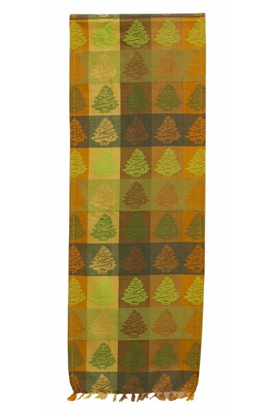 Fir Tree Sienna Table Runner (Set of 2) by The Holiday Aisle