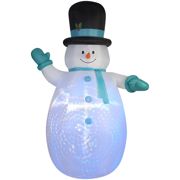 Projection Snowman Christmas Oversized Figurine by