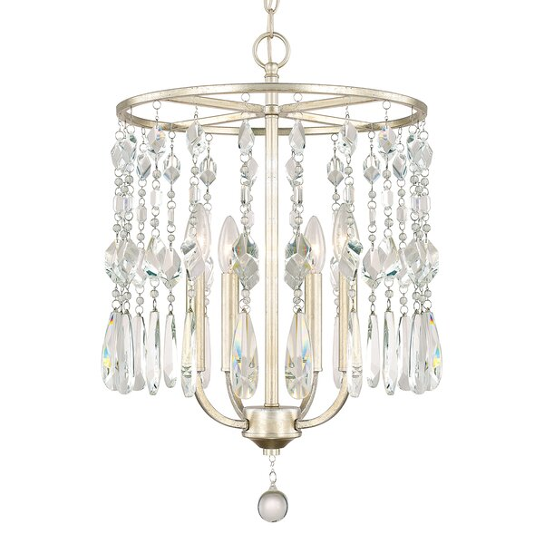 Nolan 4-Light Crystal Chandelier by House of Hampton