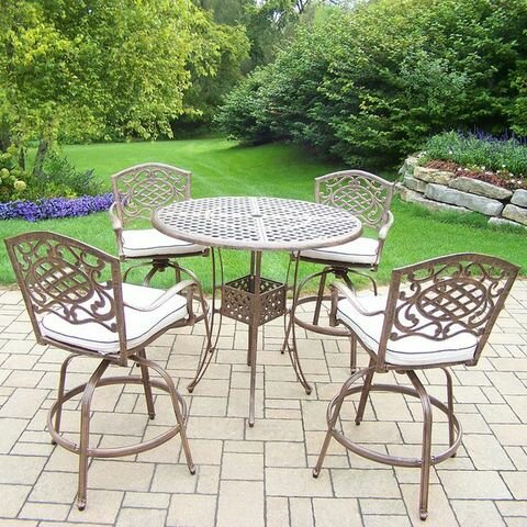 Mississippi 5 Piece Bar Height Dining Set with Cushions by Oakland Living