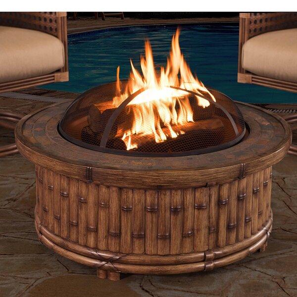 Tecumseh Aluminum Wood Burning Fire Pit Table by Sunjoy