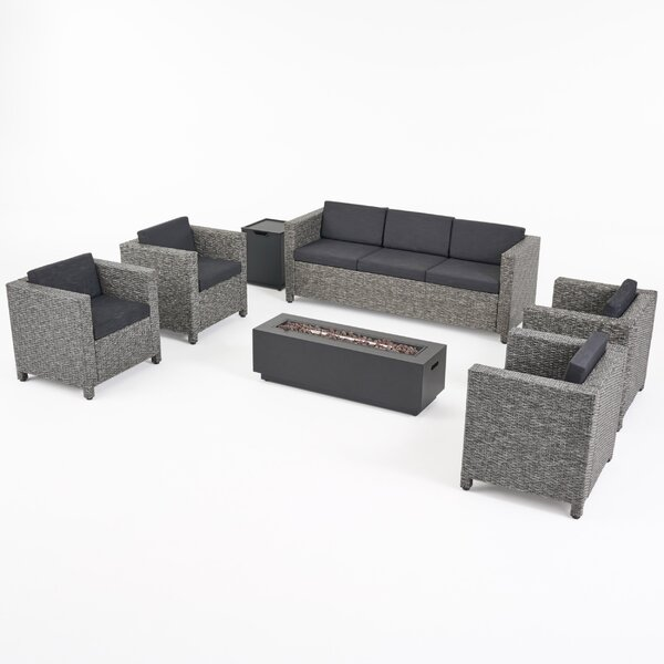 Talbert 7 Piece Sofa Seating Group with Cushions by Breakwater Bay
