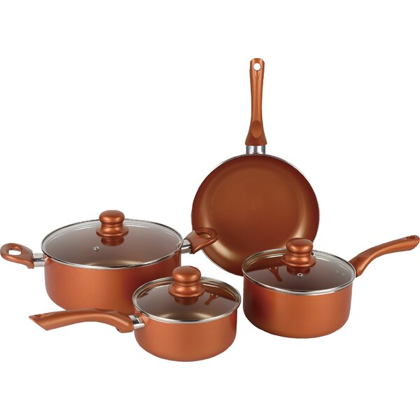 7 Piece Non-Stick Cookware Set by Brentwood Applia