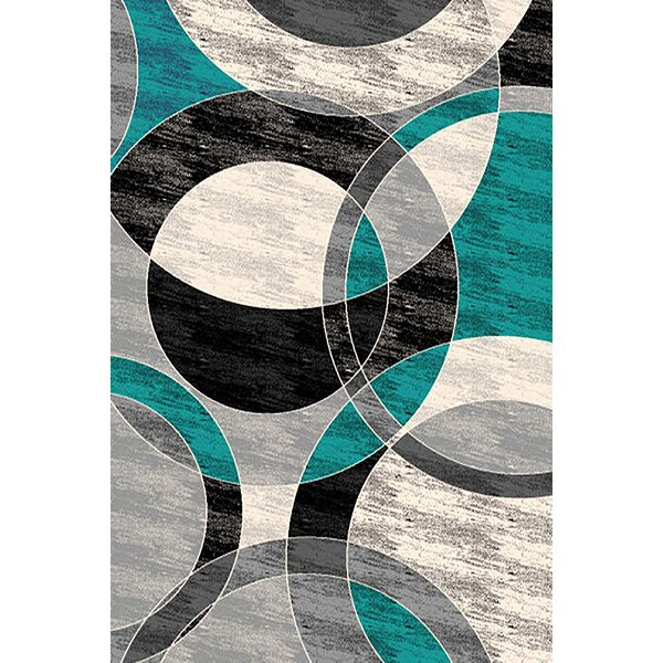 Maez Turquoise/Gray Area Rug by Latitude Run