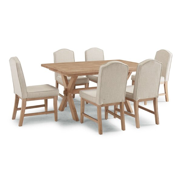 Romford 7 Piece Dining Set by Three Posts