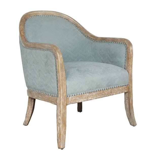 Ziggy Wood Quilted Armchair by One Allium Way