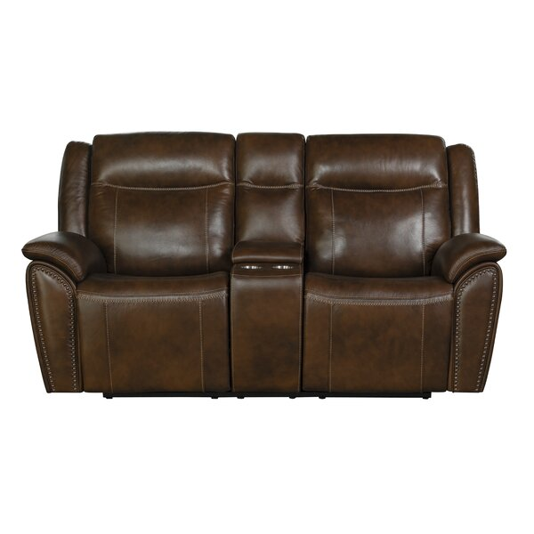 Alejandro Leather Reclining Loveseat by Red Barrel Studio