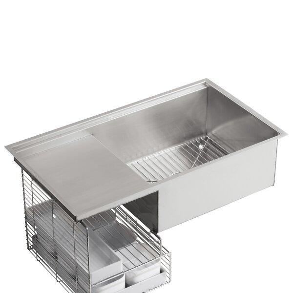 Stages 33 L x 18-1/2 W x 9-13/16 Under-Mount Single-Bowl with Wet Surface Area Kitchen Sink