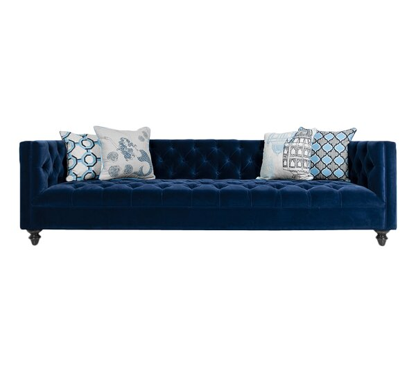 Online Shopping Navy Chesterfield Sofa by ModShop by ModShop