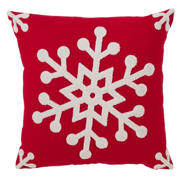 Antonio Snowflake Design Throw Pillow by The Holiday Aisle
