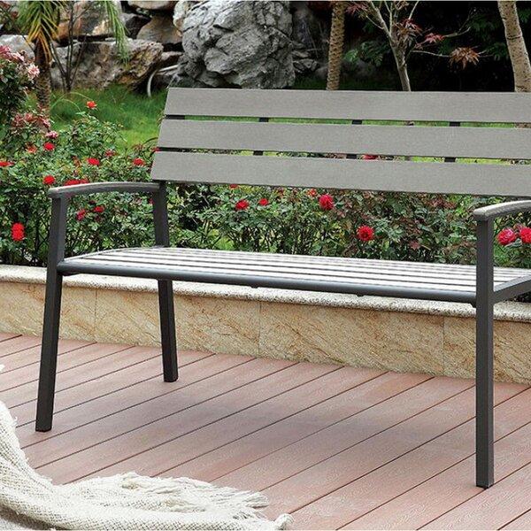 Carin Aluminium Garden Bench by Wrought Studio