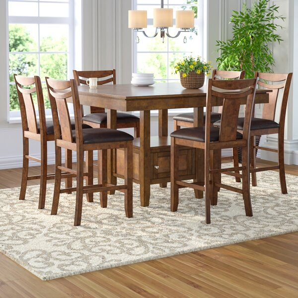 Dahlonega 7 Piece Counter Height Extendable Dining Set by Charlton Home