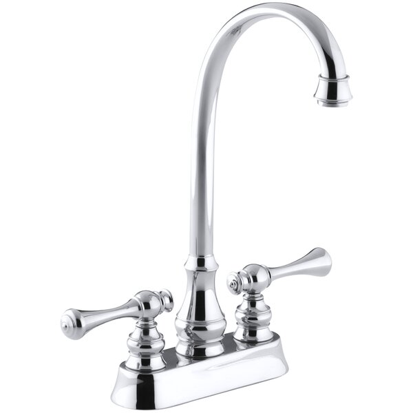 Revival Two-Hole Centerset Bar Sink Faucet with Traditional Lever Handles by Kohler