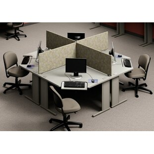 Workzone Stand Alone Corner Curvilinear Worksurface