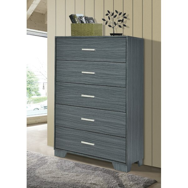 Sanket Chest Dark Grey Oak by Orren Ellis