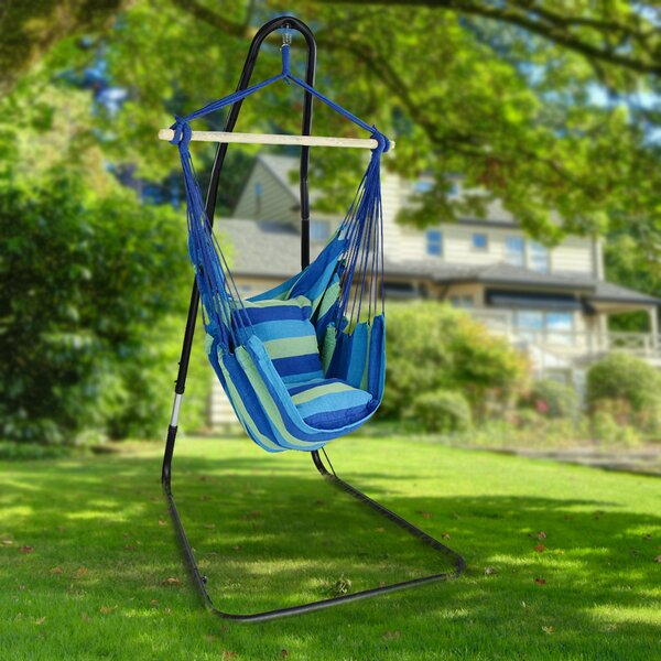 Gianna Adjustable Chair Hammock with Stand by Freeport Park