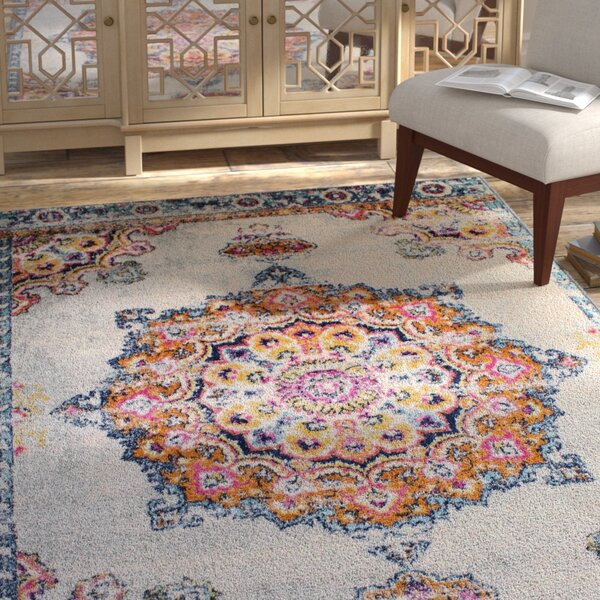 Pena Cream Area Rug by Bungalow Rose