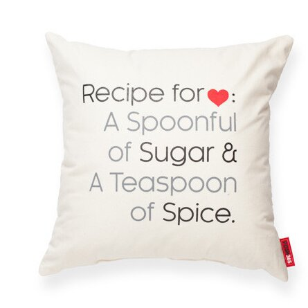 Expressive Recipe For Love Decorative Cotton Throw Pillow by Posh365