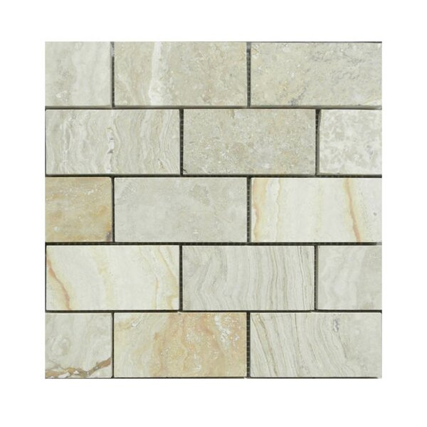 Honed 2 x 4 Natural Stone Mosaic Tile in Beige by QDI Surfaces