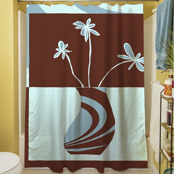 Minimalist Flowers IV Shower Curtain by Manual Woodworkers & Weavers