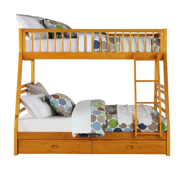 Fryman Twin Over Full Bunk Bed with Drawers by Harriet Bee
