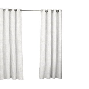 Key Largo Solid Semi Sheer Indoor Outdoor Grommet Single Curtain Panel