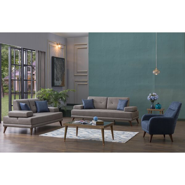 Ornella 3 Piece Living Room Set by Corrigan Studio
