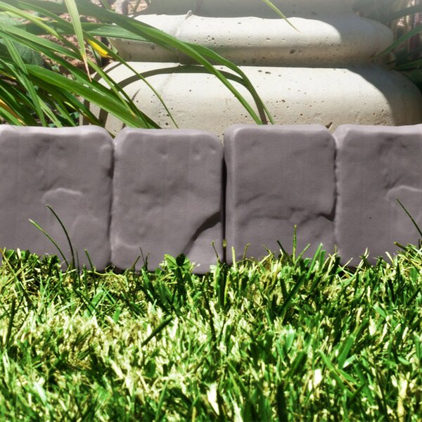 9 in. H x 10 in. W Cobblestone Garden Edging (Set of 10) by Trademark Global