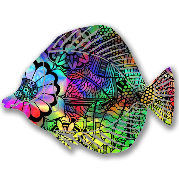 Steel Calypso Angel Fish 3D Wall Decor by Bay Isle Home