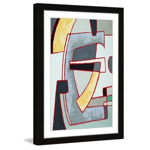 'Fragmented Sentiment' Framed Painting Print by Marmont Hill