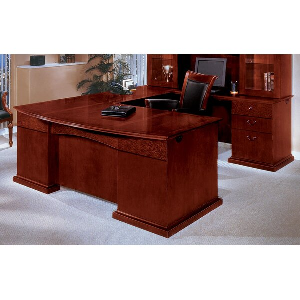 Del Mar Bow Front U-Shape Executive Desk by Flexsteel Contract