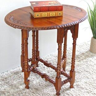 Windsor Hand Carved Wood Foldout Console Table ByInternational Caravan