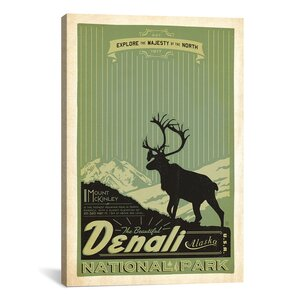 'Denali National Park' by Anderson Design Group Vintage Advertisement on Canvas by iCanvas