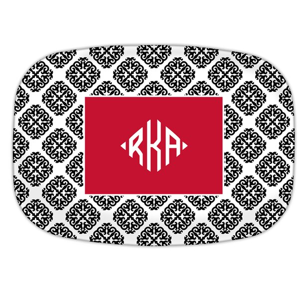 Marakesh Diamond Monogram Melamine Plate by Chatsworth