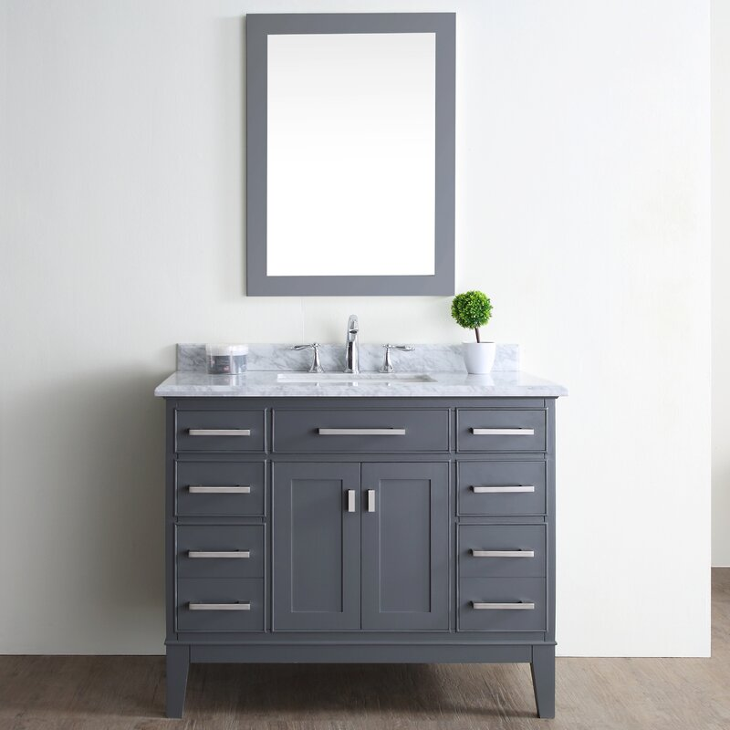 "Ari Kitchen & Bath Danny 42"" Single Bathroom Vanity Set ..."