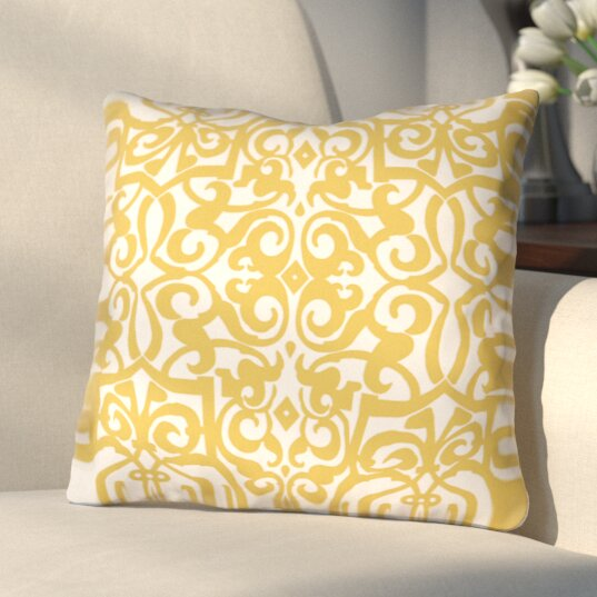 Bainbridge Printed Throw Pillow by Three Posts