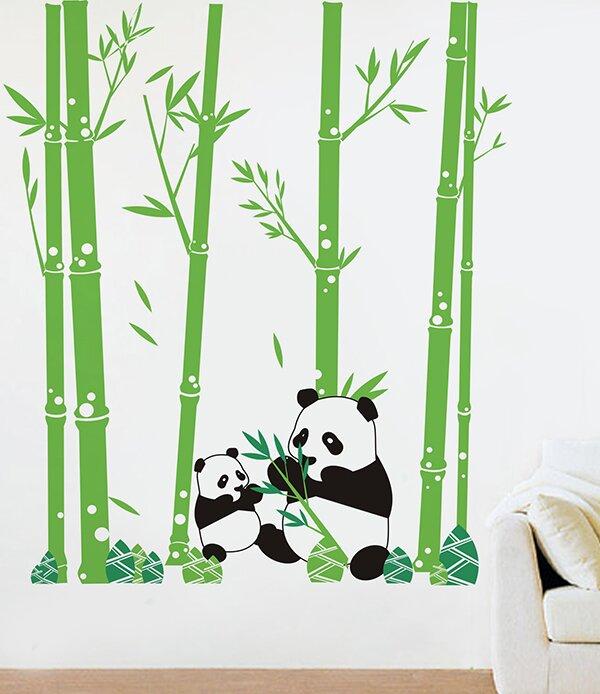 Attirant Pandas Love Bamboo Wall Decal