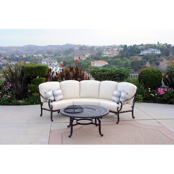 Milano 2 Piece Sunbrella  Seating Group with Cushions by Meadow Decor