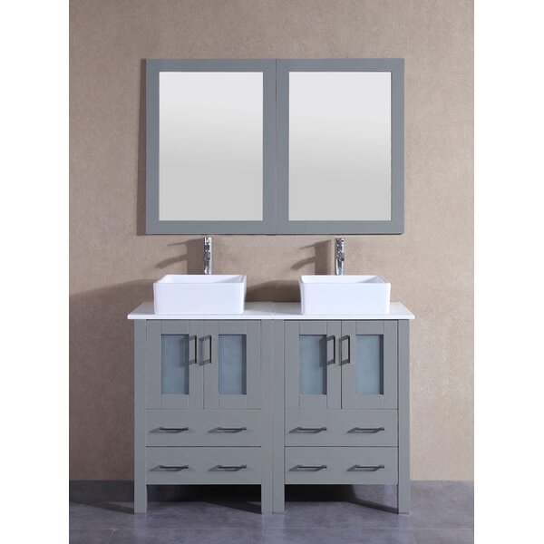 Remi 47 Double Bathroom Vanity Set with Mirror by Bosconi