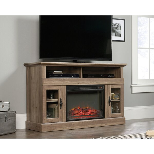 High-End Ranieri TV Stand for TVs up to 60 with Fireplace Included by Red Barrel Studio
