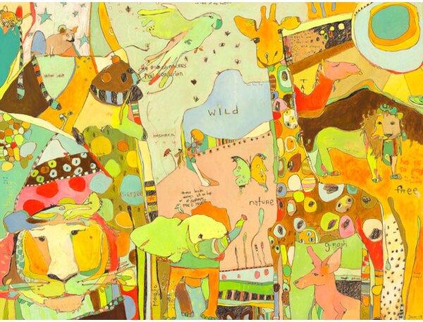 Together Animal Kingdom Canvas Art by Oopsy Daisy
