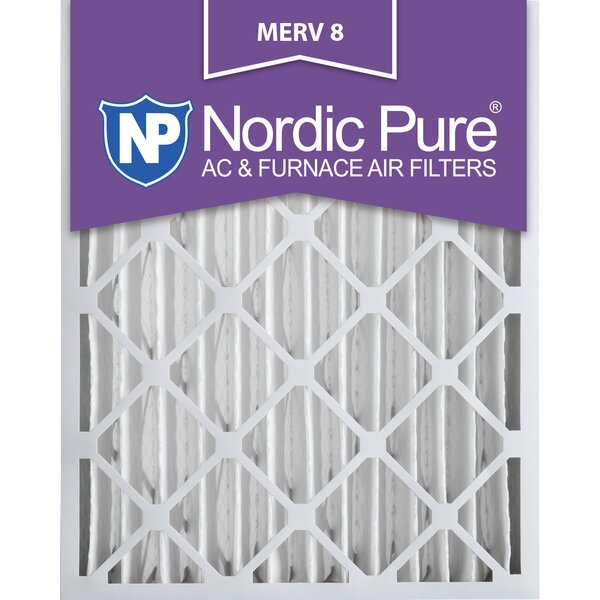 Merv 8 Dust Reduction Pleated Air Conditioner/Furnace Filter (Set of 2) by Nordic Pure