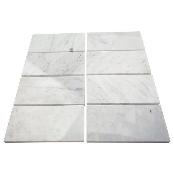 3 x 6 Marble Subway Tile in Crema Marfil by Splashback Tile