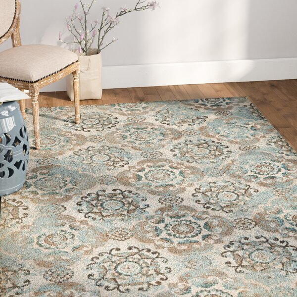 Raquel Taupe/ Beige Area Rug by Ophelia & Co.