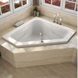 Signature® 60 x 60 Drop In Whirpool Bathtub with Heater by Jacuzzi®