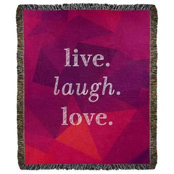 East Urban Home Faux Gemstone Self Love Quote Cotton Woven Blanket Wayfair